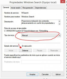 servicio windows search